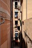 Straße in Girona, Katalonien, Spanien Stockfotografie