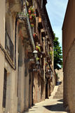 Straße in Girona, Katalonien, Spanien Lizenzfreies Stockbild