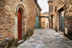 Straße in Grambois, Provence Lizenzfreies Stockbild