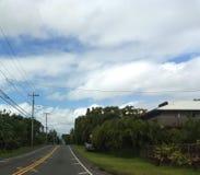 Straße Hawaiis Hilo lizenzfreie stockfotografie