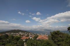 Straße in Heybeliada, Istanbul, die Türkei Leer, touristisch lizenzfreie stockfotografie