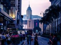 Straße in HK Stockfotografie