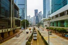 Straße in Hong Kong Stockfoto