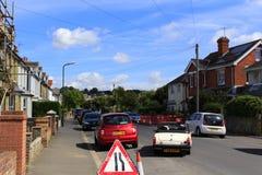Straße in Hythe-Stadt Kent Großbritannien lizenzfreies stockbild