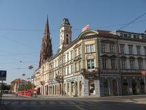 Straße I die Stadt von Osijek Lizenzfreies Stockfoto