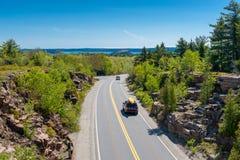 Straße im Acadia-Nationalpark Maine Lizenzfreie Stockfotos