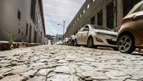 Straße im alten Teil von Cape Town lizenzfreies stockbild