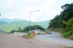 Straße im Bau Lizenzfreies Stockfoto
