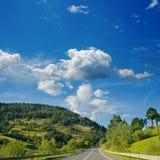 Straße im Berg Stockfoto