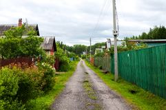 Straße im Dorf lizenzfreie stockfotografie