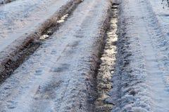 Straße im Eis im Winter Stockfotos