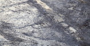 Straße im Eis im Winter Lizenzfreie Stockbilder