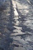 Straße im Eis im Winter Lizenzfreies Stockfoto