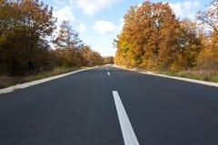 Straße im Herbst. Stockbild