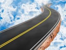 Straße im Himmel Stockbild