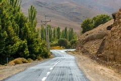 Straße im Iran Lizenzfreies Stockfoto