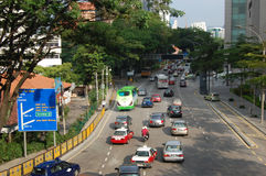 Straße im Kuala- LumpurStadtzentrum Lizenzfreie Stockfotos