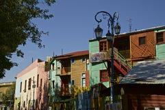 Straße im La Boca, Buenos Aires Stockbild