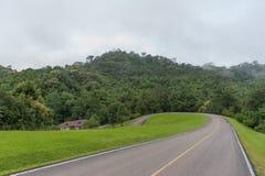 Straße im Nationalpark Lizenzfreies Stockfoto