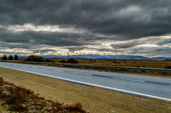 Straße im Patagonia Lizenzfreie Stockfotos
