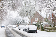 Straße im Schnee Lizenzfreies Stockbild