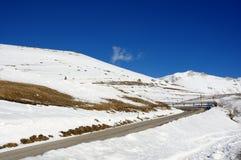 Straße im Schnee lizenzfreie stockbilder