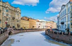 Straße im St. Petersburg Russland Stockfotografie
