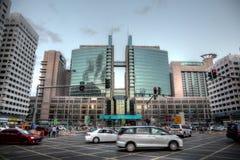 Straße im Stadtzentrum gelegen in Abu Dhabi Stockbild
