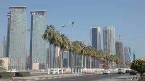 Straße im Stadtzentrum gelegen in Doha, Qatar Lizenzfreie Stockfotografie