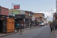 Straße im Stadtzentrum von San Jose die Hauptstadt von Costa Rica lizenzfreie stockfotografie