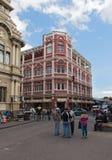 Straße im Stadtzentrum von San Jose die Hauptstadt von Costa Rica lizenzfreie stockfotos