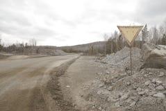 Straße im Steinbruch Lizenzfreie Stockfotos