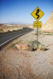 Straße im Tal des Feuer-Nationalparks Lizenzfreies Stockfoto