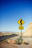 Straße im Tal des Feuer-Nationalparks Lizenzfreie Stockfotos