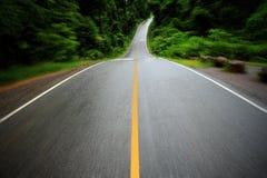 Straße im tiefen Wald Lizenzfreie Stockfotos