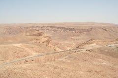 Straße im Wüste Negev Lizenzfreies Stockbild