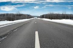 Straße im Winter Lizenzfreies Stockbild