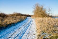 Straße im Winter Stockbild