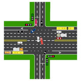 Straße infographics Die meisten des Landstraßenschnitts mit der Straße Lizenzfreie Stockbilder