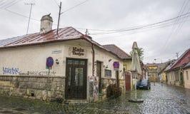 Straße Inocentiu Micu Klein in Klausenburg, Rumänien lizenzfreie stockfotos