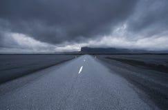 Straße in Island Lizenzfreie Stockfotografie