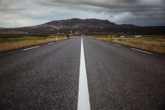 Straße in Island Lizenzfreies Stockfoto