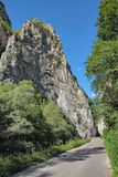 Straße Jerma-Schlucht, Serbien stockbild