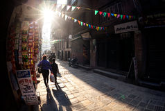 Straße in Kathmandu Lizenzfreie Stockbilder