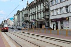 Straße in Katowice Stockfotografie