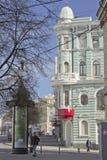 Straße in Kharkov im Frühjahr Lizenzfreie Stockfotos