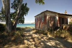Straße in Korfu Stockfotos