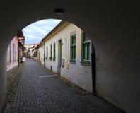 Straße in Kosice, Slowakei lizenzfreie stockfotos