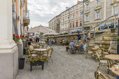 Straße in Krakau Lizenzfreies Stockbild