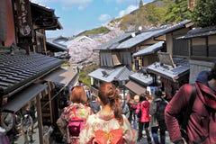 Straße, Kyoto, Japan Lizenzfreies Stockfoto